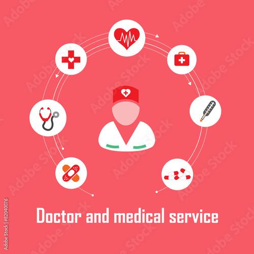 Fotografie, Obraz  Doctor and medical service