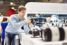 Man Photographer Tests Digital...