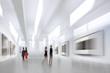 Leinwanddruck Bild - people in the art gallery center