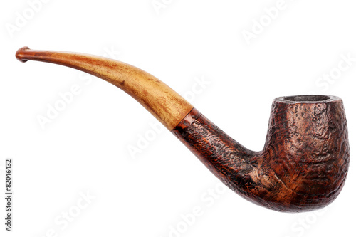 Photo  Old wooden tobacco pipe
