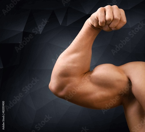 Canvas Print Body Building. Body builder bicep
