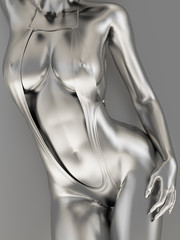 Fototapeta Erotyka Silver female body