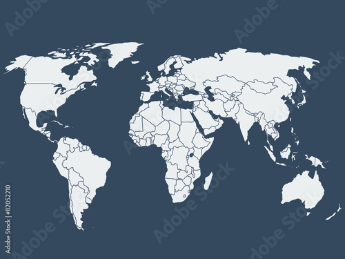 World map vector illustration Fototapeta