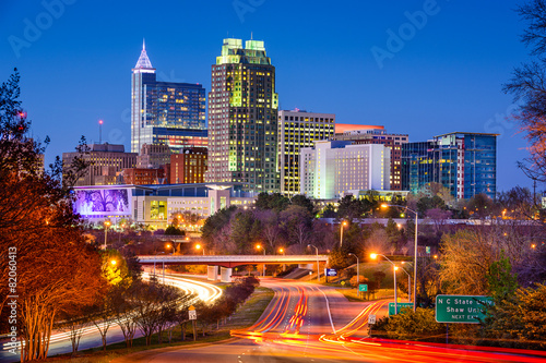 Photo Stands United States Raleigh, North Carolina Skyline