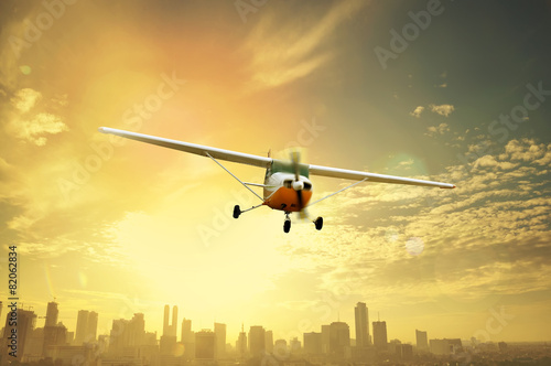 Photo  Propeller Plane Flying
