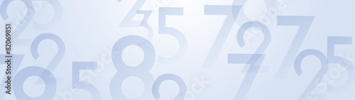 Fototapeta Abstract numbers background