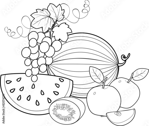 Coloring Fruit