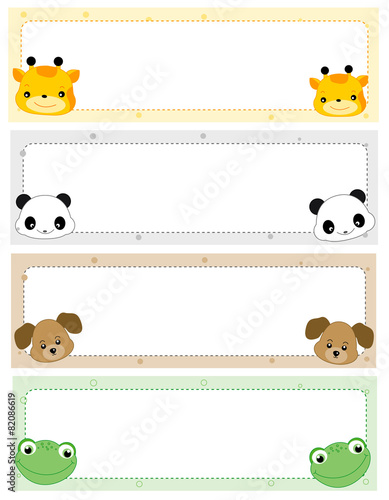 printable cute name tags for kids buy this stock vector and