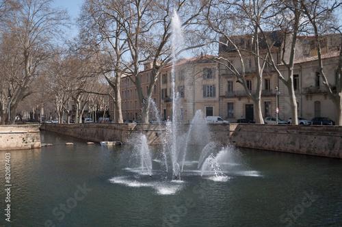 Foto op Canvas Fontaine Jardin de la fontaine, Nîmes.