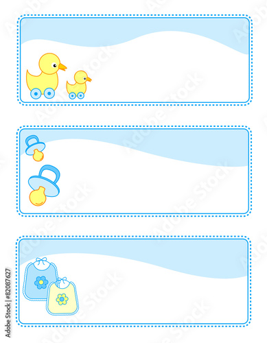 This is a picture of Printable Baby Gift Tags inside gift bag