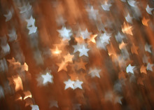 Festive Background With Gold And Silver Stars