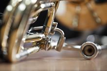 Fragment Lying Trombone Closeup