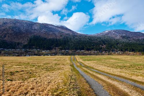 Keuken foto achterwand Scandinavië road in norway