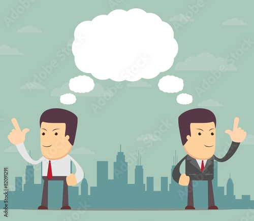 Photo Businessmen thinking. Vector