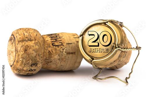 Fotografía  Champagnerkorken 20 Jahre Jubiläum
