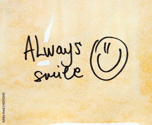 Photo always smile text