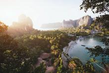 Beautiful View Of Railay Beach, Krabi, Thailand