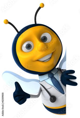 Foto op Aluminium Sweet Monsters Fun bee