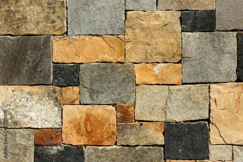 Foto op Canvas Stenen Stone Wall