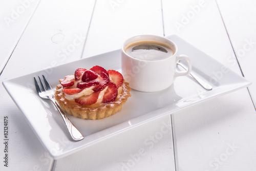 Fototapeta  ciastko z kawą