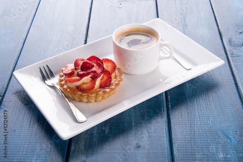 Fotomural ciastko truskawkowe