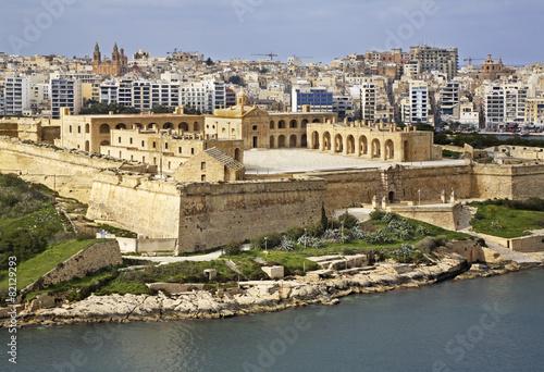 Door stickers Fortification Fort Manoel. Malta island