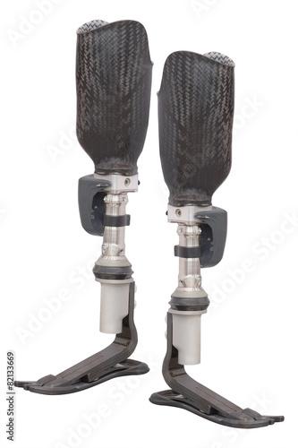 Fotografia  artificial limb under the white background