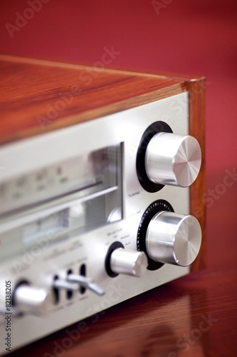 Vintage Stereo Radio Receiver - Buy this stock photo and