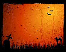 Grunge Halloween Frame / Border