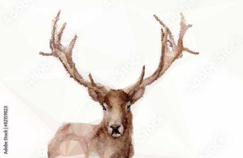 фотография  Abstract polygonal deer