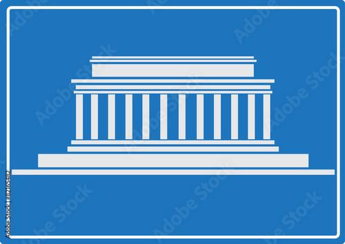 Fotografia  Lincoln Memorial, Washington DC. USA. Vector illustration.