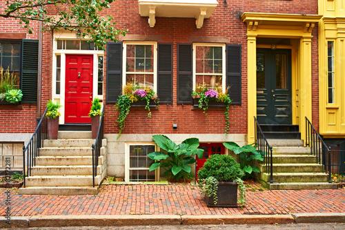 Fotografía Street at Beacon Hill neighborhood, Boston