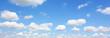 canvas print picture - Himmel und Wolken Panorama