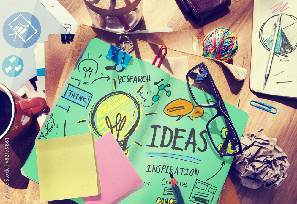 Fototapety, obrazy: Ideas Innovation Creativity Knowledge Inspiration Vision Concept