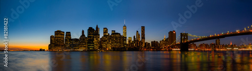 Foto op Plexiglas New York New York Skyline at Sunset