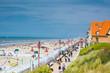canvas print picture - Strandpromenade De Haan Belgien