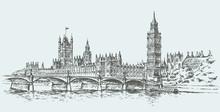 Big Ben. Vector Drawing