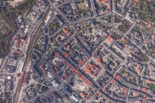 Aerial view of Swidnica city © mariusz szczygieł