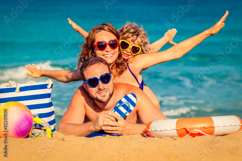 Photo  Family at the beach