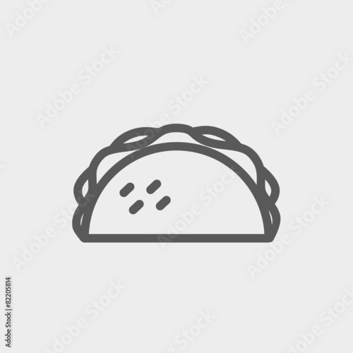 Fotografie, Obraz  Taco thin line icon