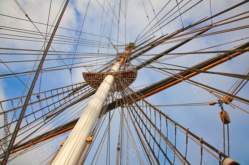 Fotografie, Obraz  ship's masts