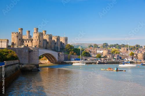Fotografie, Obraz Conwy Castle in Wales, United Kingdom, series of Walesh castles