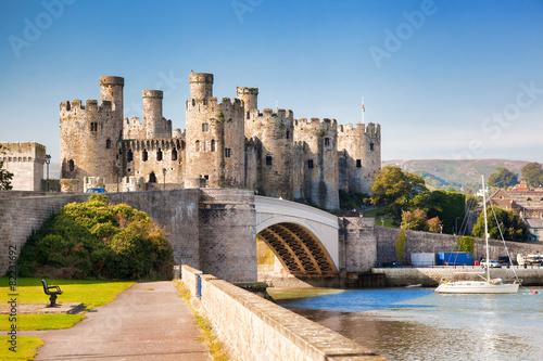 obraz PCV Zamek Conwy w Walii, Wielka Brytania, seria zamków Walesh
