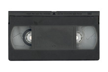 VHS Video Tape Cassette Isolated