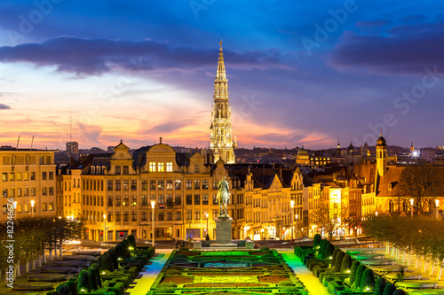 Foto op Canvas Brussel Brussels Cityscape Belgium