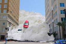 Tsunami Tidal Wave Flash Flood Destroying City