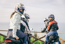 Two Motorbikes Driving In The Nature