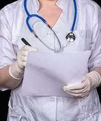 Doctor with papers