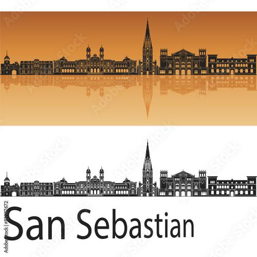 Fotografie, Obraz  San Sebastian Skyline