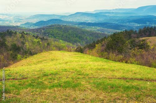 Keuken foto achterwand Heuvel Scenery of rolling hills landscape.